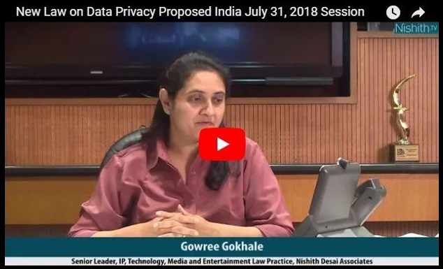 Webinar: New Law on Data Privacy Proposed: India takes a leaf from the GDPR book